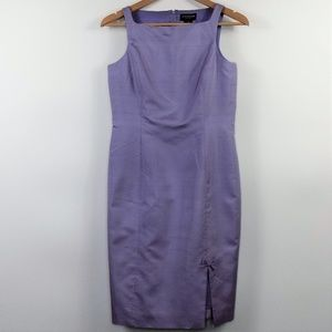 Ann Taylor Petites Silk Sheath Dress Lilac Size 4P